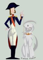 Sister Bonaparte and Absol by Loar5