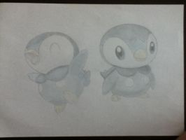 Piplup (color) by WorldLeader