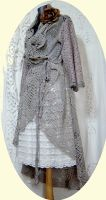 SHABBY LACE CROCHET COAT by MAIDESTREASURIES
