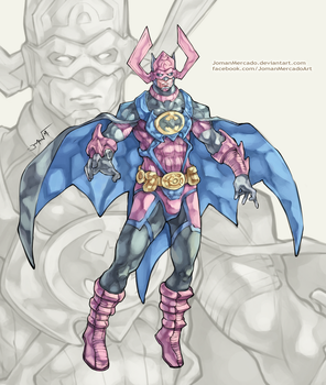 Batman + Galactus by JomanMercado