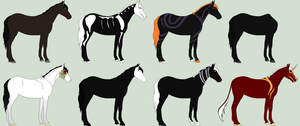 Halloween adoptables - ALL TAKEN by RedOak-Stables