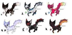 Fox Adopts (CLOSED) by Neon-Spots-Adopts