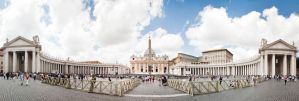 St. Peter's Square by FudgeNugget