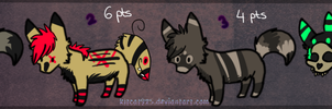 :Adoptable Set Wolfs 2 CLOSE: by AdoptablesPoints