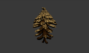 Blender : Pinecone (With Animation) by w0lfix