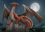 Red Dragon by H-Chan-Arts