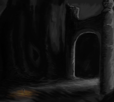 30 minute sketch - Cave by Cookiehalo