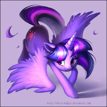 Purple dance - Twilight Sparkle by Shira-hedgie