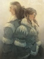 Korra and Tarrlok by freestarisis