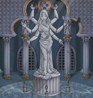Statue Puzzle Room by EmphasisMine