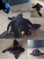 Toothless Plush 3ft by AmyMcLenaghan