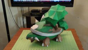 Pokemon Torterra Papercraft 1 by devastator006