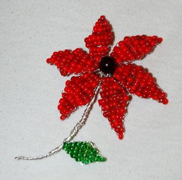 flower brooch by trapus