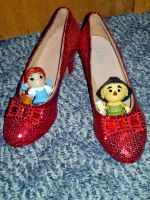 Dorothy and Scarecrow in Ruby Slippers by TheWizardofOzzy