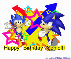 Happy 20th Sonic by xRubiMalonex