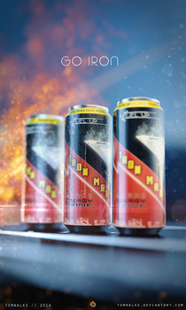 Iron Man Energy Drink (Blender 2.71) by TomWalks