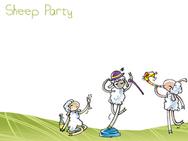 Sheep Party by Mistexpi