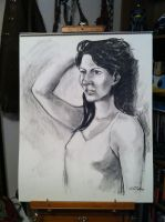 Arielita in charcoal by jediboy