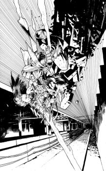 BIRTHRIGHT #13 cover BW by andreibressan