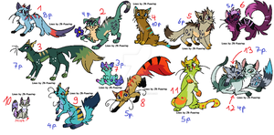 Warrior Cats adoptables by LizzysAdopts