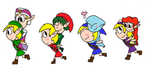 Zelda: The Four Girlfriends by TMan5636