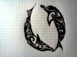 Dolphin Tribal by Ashendail