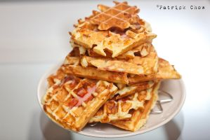 Ham and cheese waffles 2 by patchow