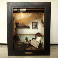 The Room with Old TRUNK (No.1)- Vintage Antique ch by dollhouseara