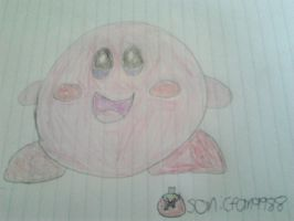 A quick Kirby drawing! by SonicAndHildaFan11