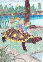 fairies and a tortoise by isabel56