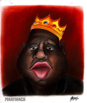 caricatura The Notorious B.I.G. by maxi1hack