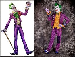 Joker Arkham Asylum Cosplay Comparation by AlexWorks