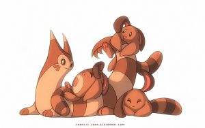 Sentrets and a Furret by francis-john