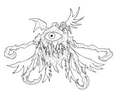Beholder thing Lineart, for Ad by assassin-sylk
