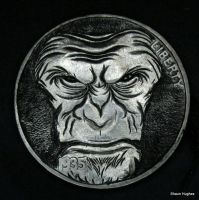 'Caesar' Currency Of the Planet of the Apes Carved by shaun750