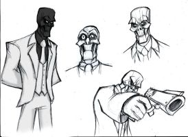 Black Mask SKETCH by Sabrerine911