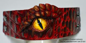 Smaug Leather Cuff by CoreyChiev