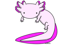 Chibi Axolotl by weirdtalon