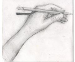 Sketch of a Hand by Minthia