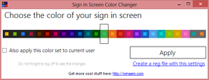 Sign In Screen Color Changer by hb860