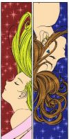 Two Bells Bookmarks by Anasatcia