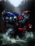 Venom and Spidey collab by Tatong