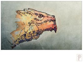 Lava Dragon by Papierpilot
