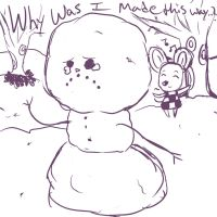 Snowman Hates Life by Shakeymuffin
