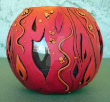 Flame Polymer Clay Vase by MandarinMoon
