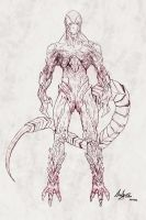 Frieza Final Form Concept Art Sketch by AndiMoo