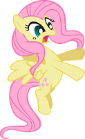 Request: Fluttershy startled by Pangbot