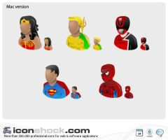 Super heros Web icons by Iconshock