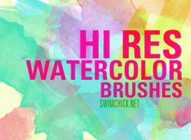 FREE HI RES WATERCOLOR BRUSHES by zerofiction