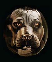 Pit Bull Pumpkin by Child-of-God